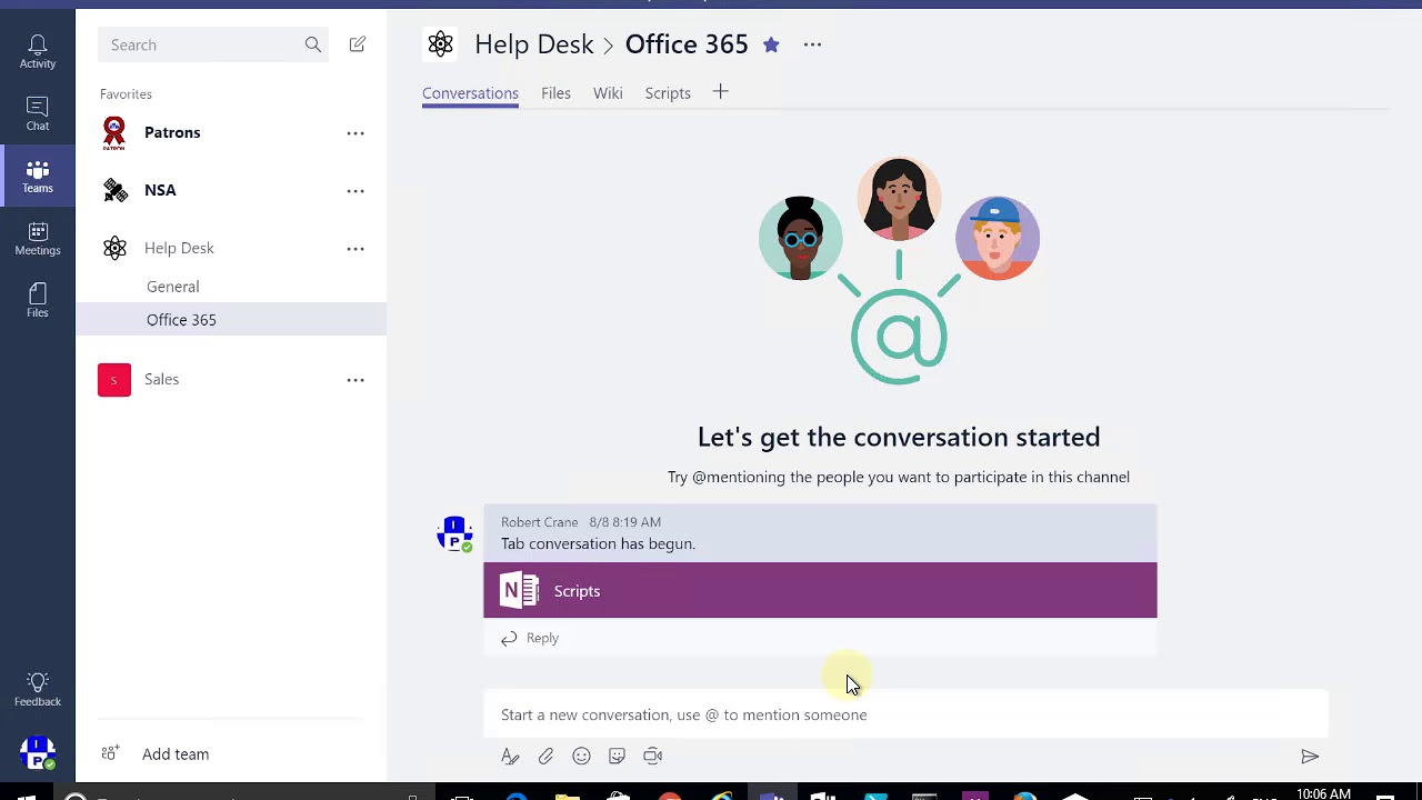 Sending an email directly to a Microsoft Teams channel - YouTube