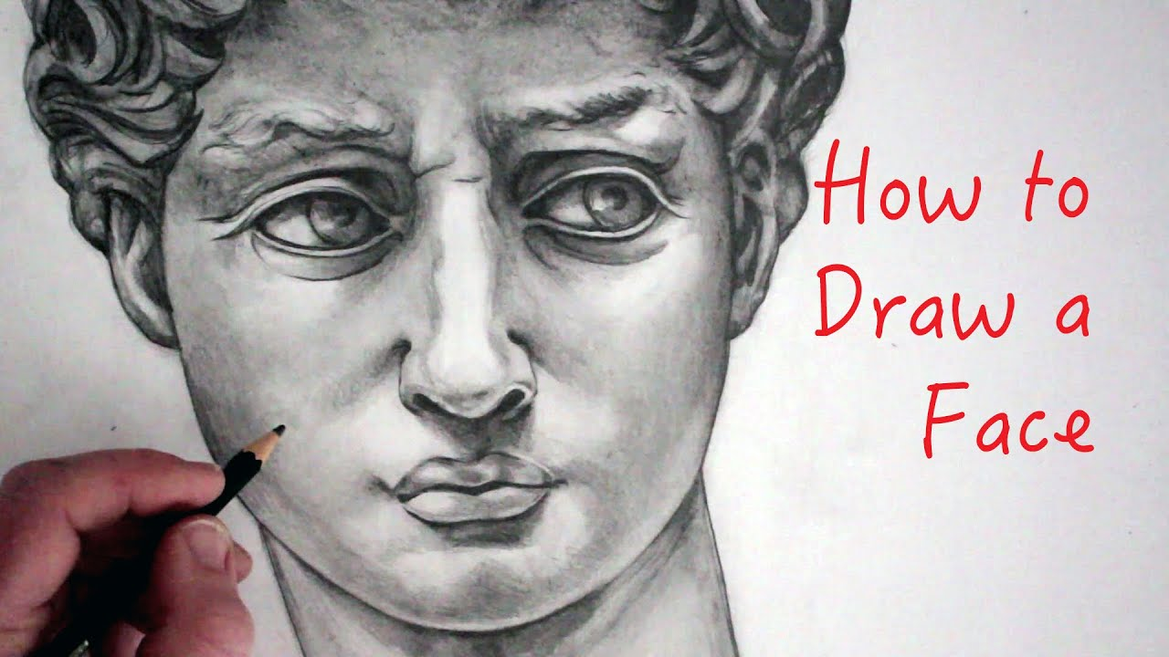 How To Draw A Face David Step By Step