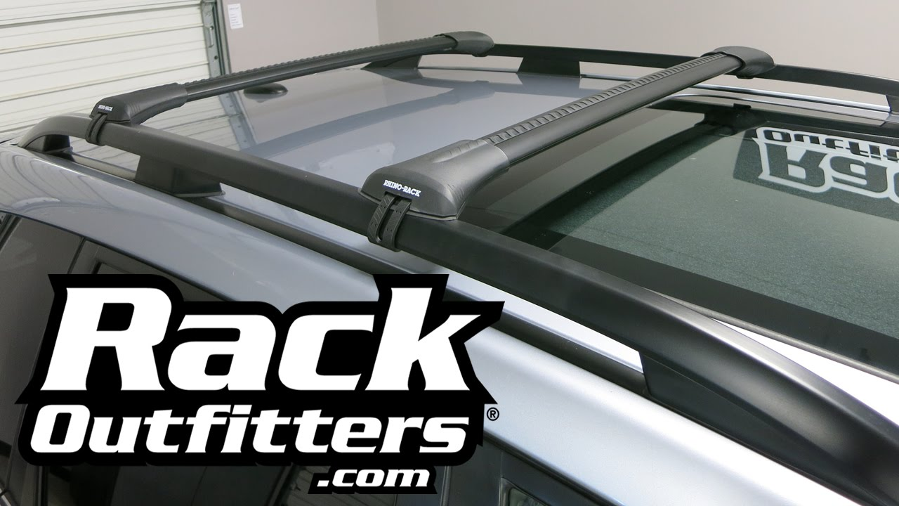 2014 2016 Subaru Forester With Rhino Rack Stealth Bar Base Roof Rack By Rack  Outfitters   YouTube