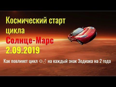 Космический старт цикла Солнце-Марс 2.09.2019