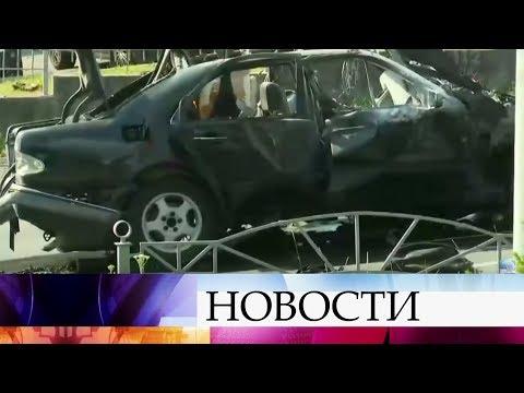 Вцентре Киева взорвался автомобиль.