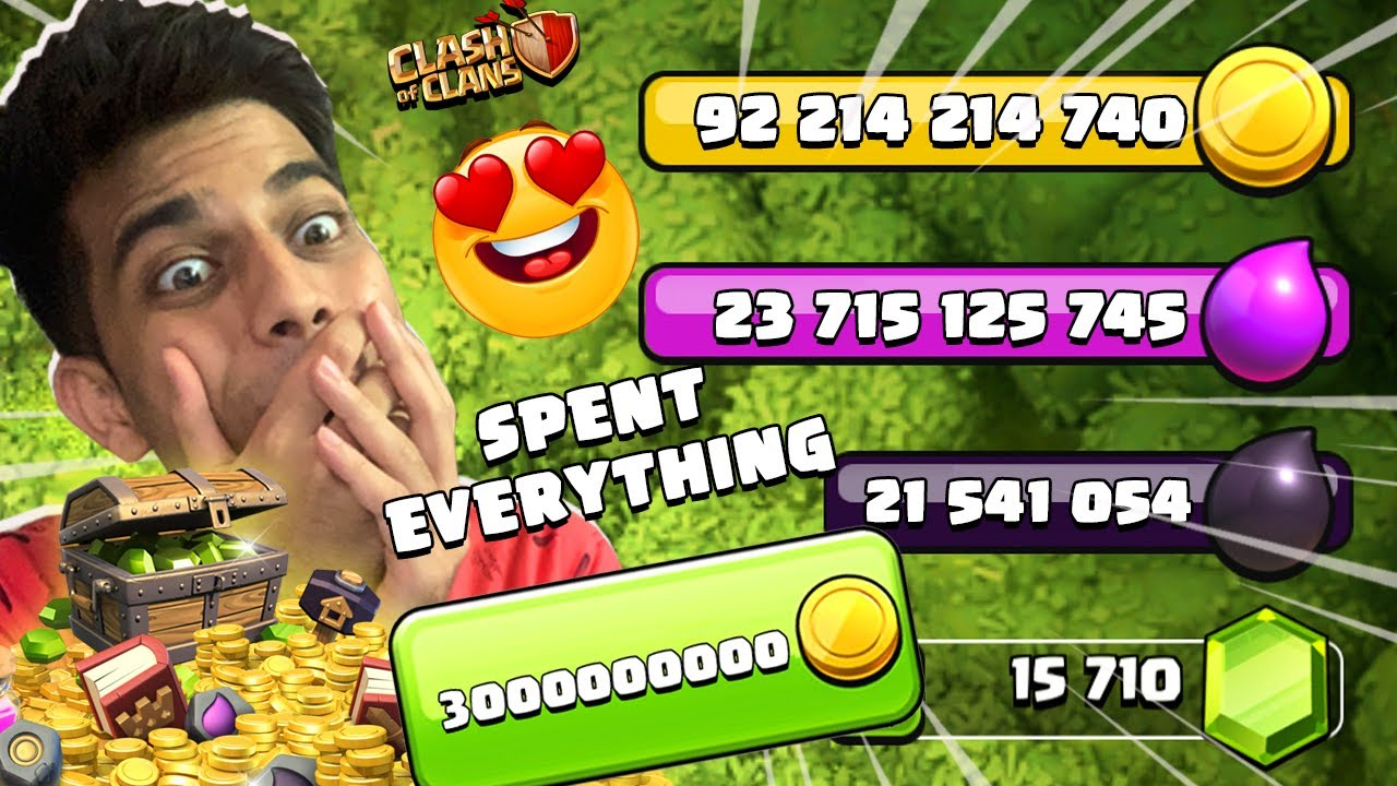 I SPENT EVERYTHING....... CLASH OF CLANS - COC