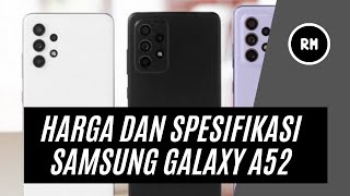 Prices and specifications for the Samsung Galaxy A52
