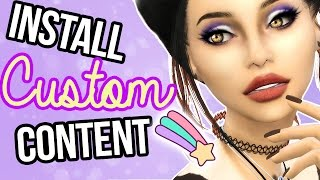 How to Install Sims 4 Custom Content || Mods || Tutorial