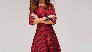 Scottish plaid mini dress
