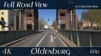 Oldenburg, Germany: Bremer Straße, Damm - 4K (2160p/60p) Ultra HD