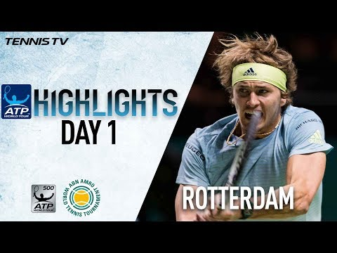 Highlights: Zverev, Berdych Advance On Day 1 In Rotterdam 2018