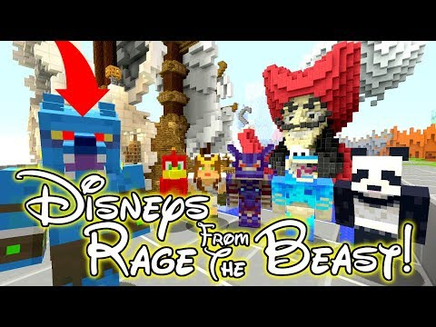 DISNEY VILLAINS RAGE FROM THE BEAST!! // I'M THE EVIL VILLAIN!! - Minecraft XBOX