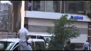 PKK şehir merkezİnde yol kesti / 04 06 2014 / ŞIRNAK