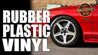 How To Restore Plastic, Rubber, & Vinyl - Masterson's Car Care - Auto Detailing