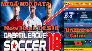 How To Hack Dream League Soccer 2018/ Mega Mod Data Unlimited Coins