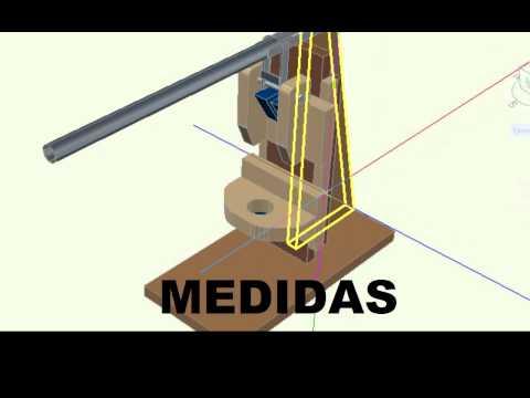 Tutorial soporte universal minitaladro para fabricar mi - Soporte taladro vertical ...