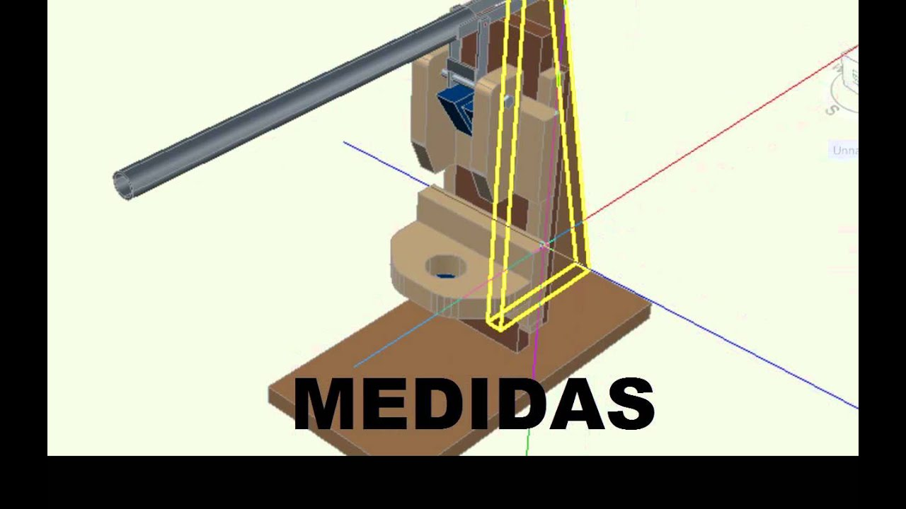 Soporte vertical para taladro detallado en 3d youtube - Soportes para taladro ...