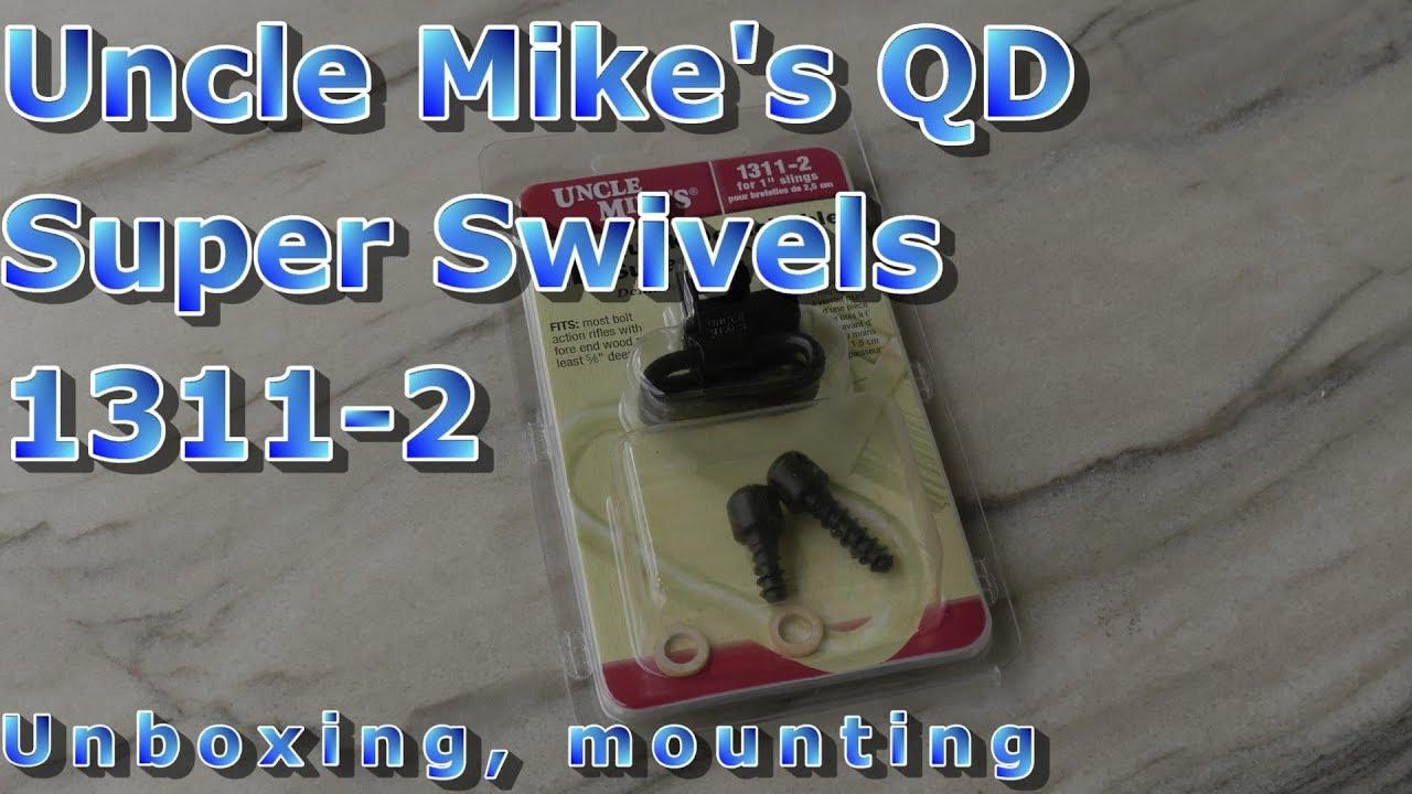 Uncle Mike/'s Quick Detachable Super Swivels #1311-2