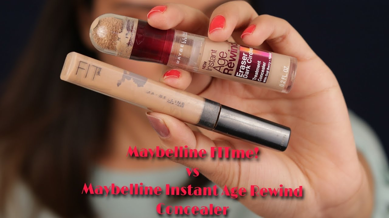 Maybelline Fitme Concealer Vs The Instant Age Rewind Fit Me 20 Sand Review Swatches
