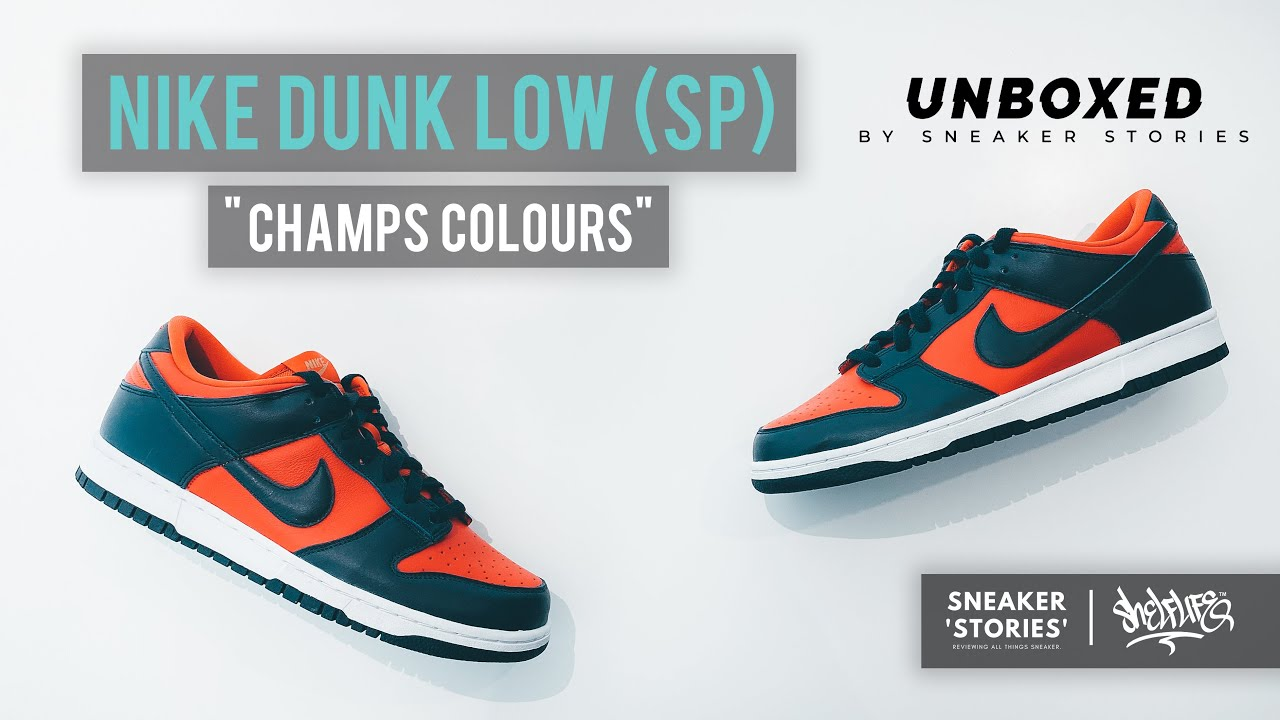 UNBOXED! Nike Dunk Low SP 'Champs Colors' (Review)