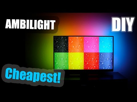 DIY   Cheapest AMBILIGHT For 47' TV [$20 Only!]
