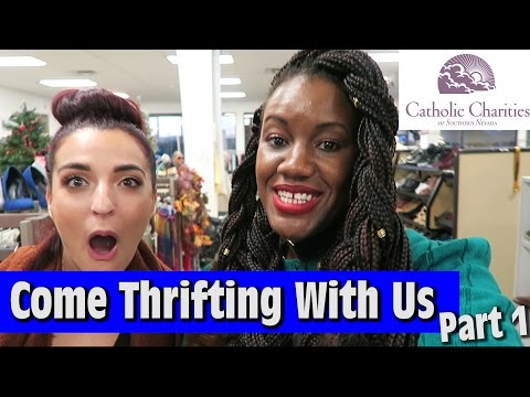 WE NEED EVERYTHNG Catholic Charities Part 1 |Come Thrifting With Us|#ThriftersAnonymous