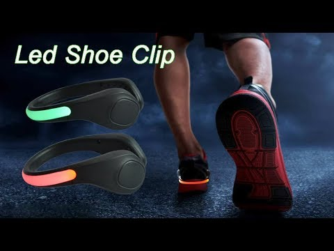 Sport Safety Running Flashing Light Led Shoe Clip Light - YouTube