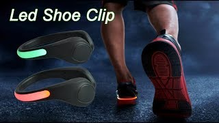 Sport Safety Running Flashing Light Led Shoe Clip Light