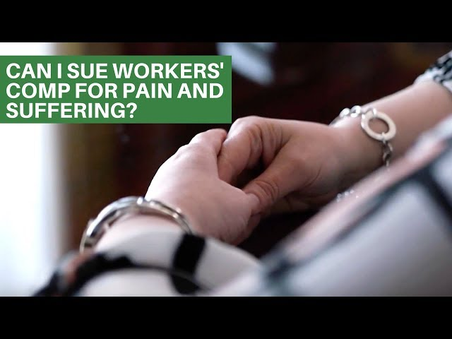 Can I sue workers' comp for pain and suffering? | PA Workers Comp Attorneys