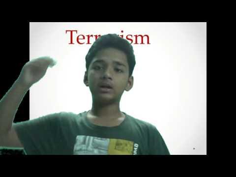 A Speech/Essay On Terrorism in English