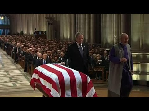 George H.W. Bush honoured at state funeral