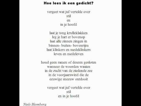 Wonderbaarlijk Gedichten van Niels Blomberg: Hoe lees ik een gedicht? RK-03