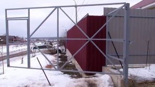 самодельный привод ворот из домкрата и шуруповерта часть1(, 2016-02-21T14:27:06.000Z)