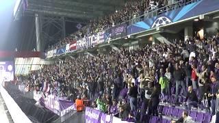 FK Austria Wien - Dinamo Zagreb 2:3 , Osttribüne nach dem Tor von Roman Kienast