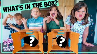 BOYS vs GIRLS! What's in the Box Challenge - With Gross and Yummy Food!
