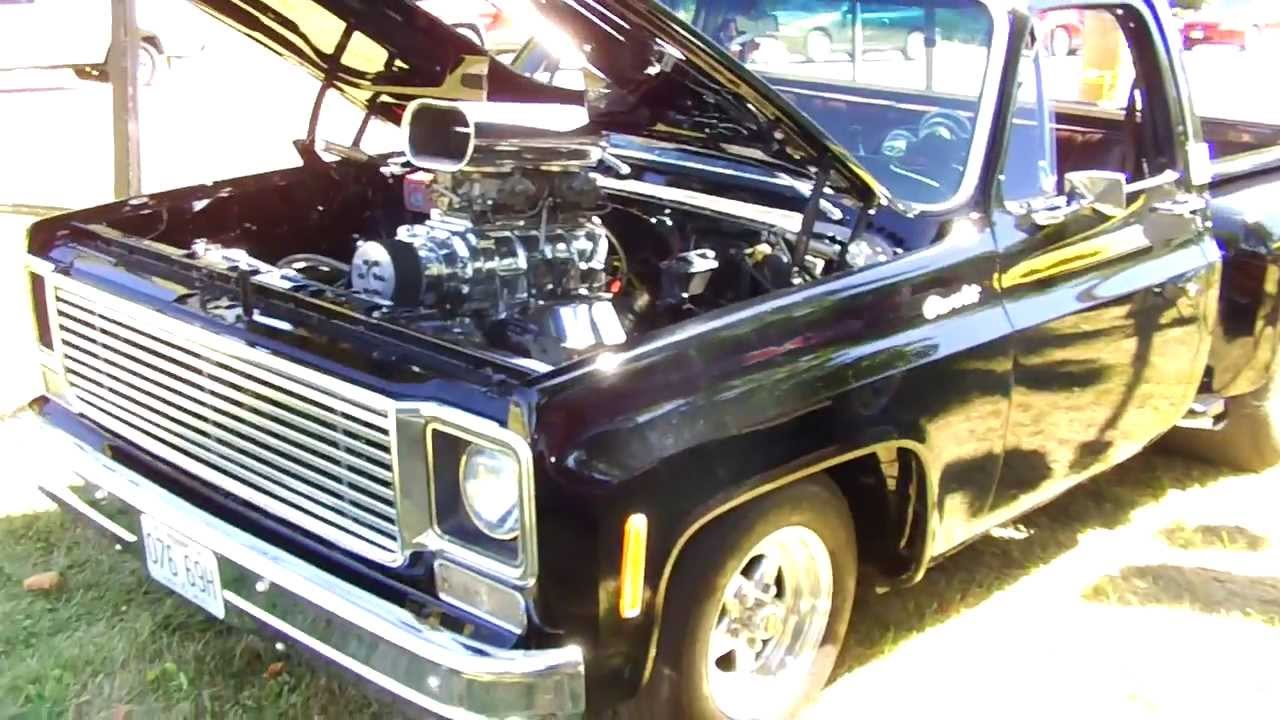 Pickup 74 chevy pickup : Supercharged 1974 Chevrolet C10 Step Side Walkaround - YouTube