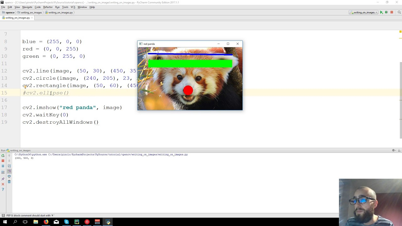 Drawing and writing on images - OpenCV 3 4 with python 3