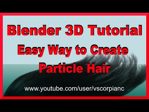 Blender 3D Tutorial - How to Make Hair on MakeHuman Characters (Easy) by VscorpianC