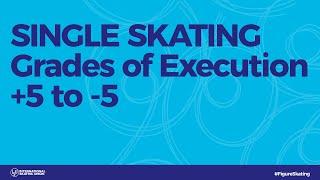 Grades of Execution +5 to -5 Single Skating
