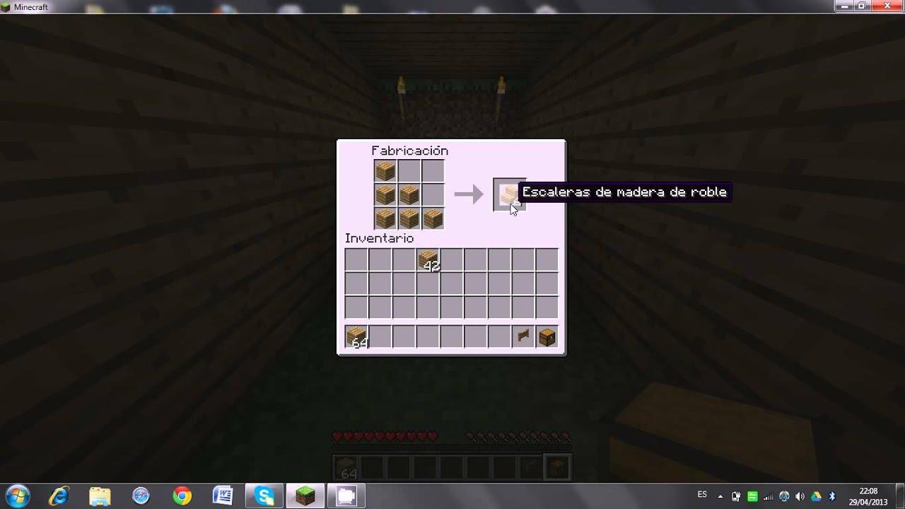 Como hacer cosas de madera en minecraft how to make for Como hacer muebles en minecraft