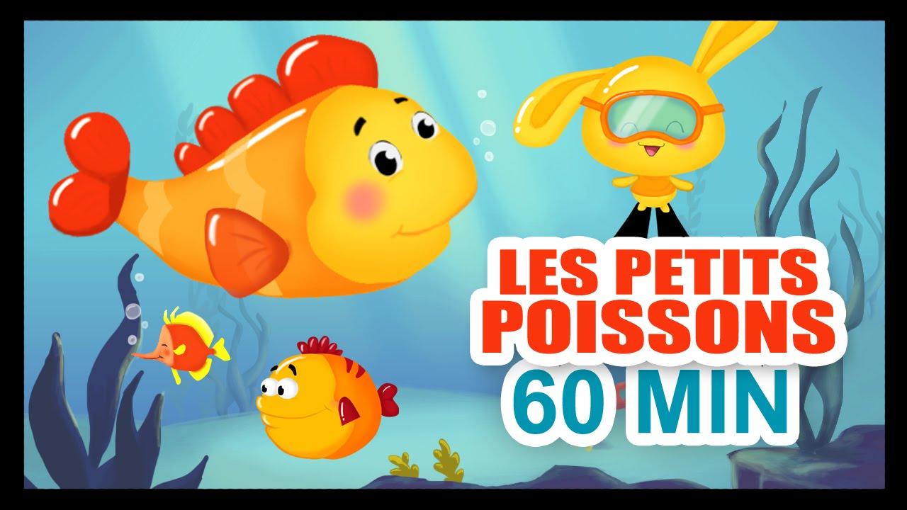 les petits poissons dans l 39 eau 1h de comptines pour les petits titounis youtube. Black Bedroom Furniture Sets. Home Design Ideas