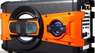 Portable Bluetooth Karaoke Speaker System with Microphone, LED Light & FM Radio