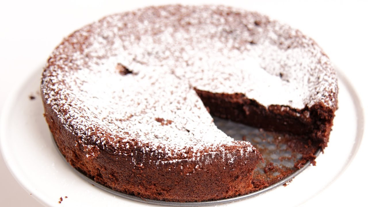Homemade Flourless Chocolate Cake Recipe - Laura Vitale - Laura in the Kitchen Episode 775