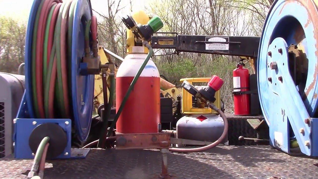 oxy fuel welding rig set up build