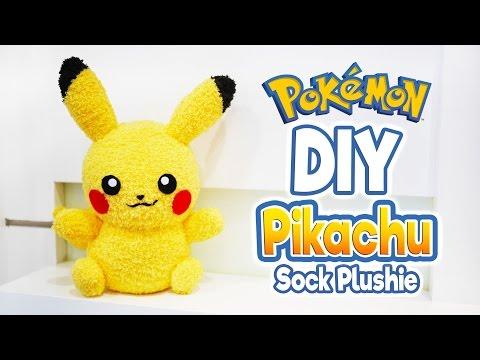 diy-pikachu-sock-plushie-with-free-pattern!-cute-pokemon-tutorial