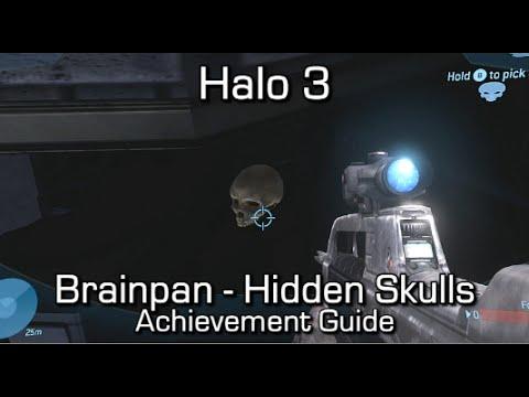 Halo 3 - Brainpan Achievement Guide - All 6 Hidden MP Skulls - Title Update 2