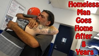 HOMELESS MAN GOES HOME AFTER 8 YEARS! (Social experiment)