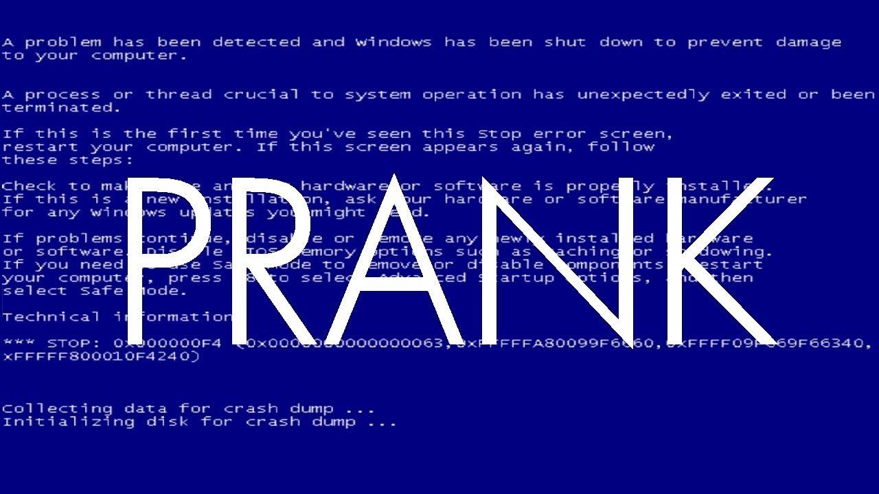 ☻ COMPUTER PRANK ☻ Microsoft WINDOWS 7 Crash ☻ Blue Screen of Death (BSOD)  ☻ #Geek #Nerd #tech