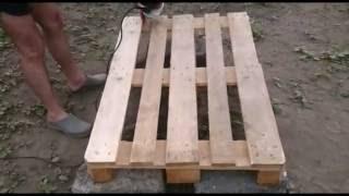 видео Кровать из поддонов (паллет) своими руками: фото и пошаговый мастер класс