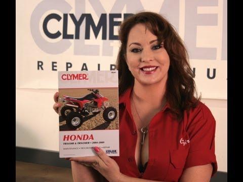 Clymer Manuals Honda TRX450R TRX450ER Maintenance Troubleshooting Repair Shop Manual ATV Video