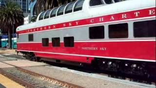 Northern Sky Charters Grand Touring Railway Car At Santa Fe Depot, San Diego, CA.