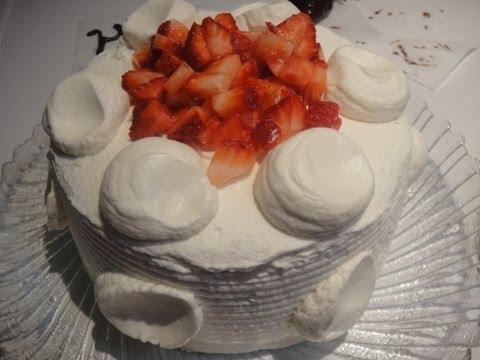 How to make Strawberry Shortcake Recipe - 士多啤梨蛋糕