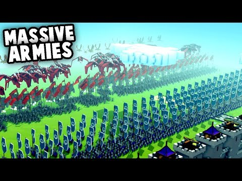 MASSIVE Armies!  NEW Creative Mode Update (Kingdoms and Castles Gameplay)