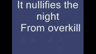 overkill- by men at work (with lyrics)
